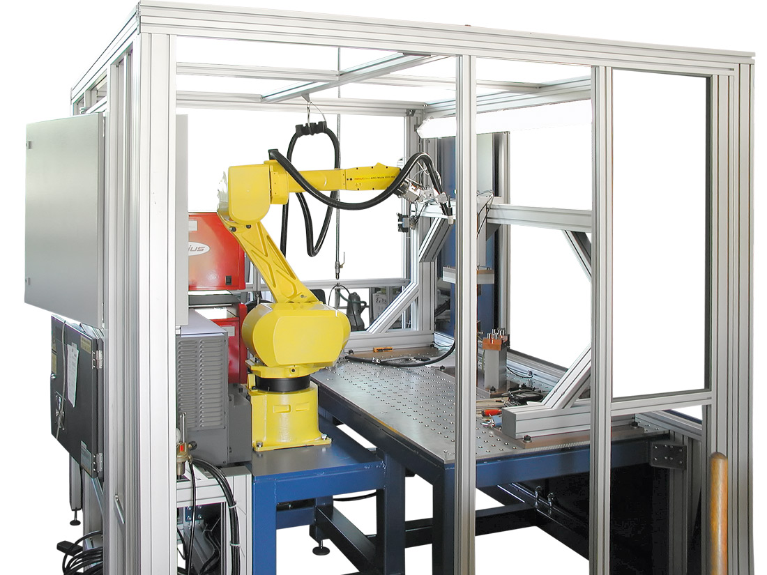 WIG welding automatic machine using a robot of 6 axes